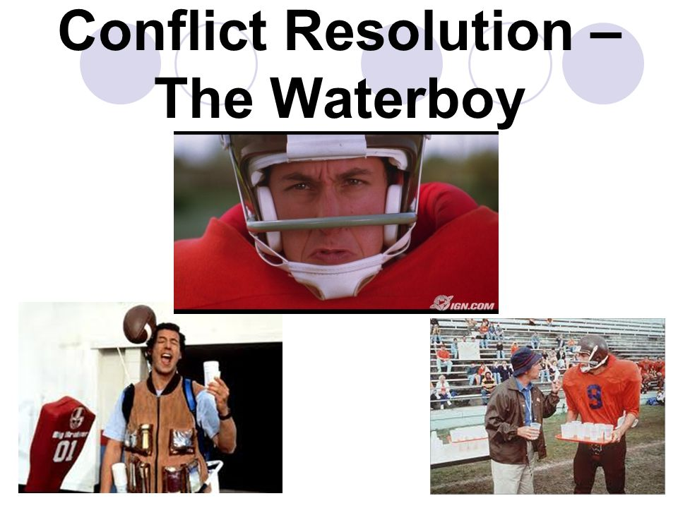 Conflict Resolution – The Waterboy 03/05/201533