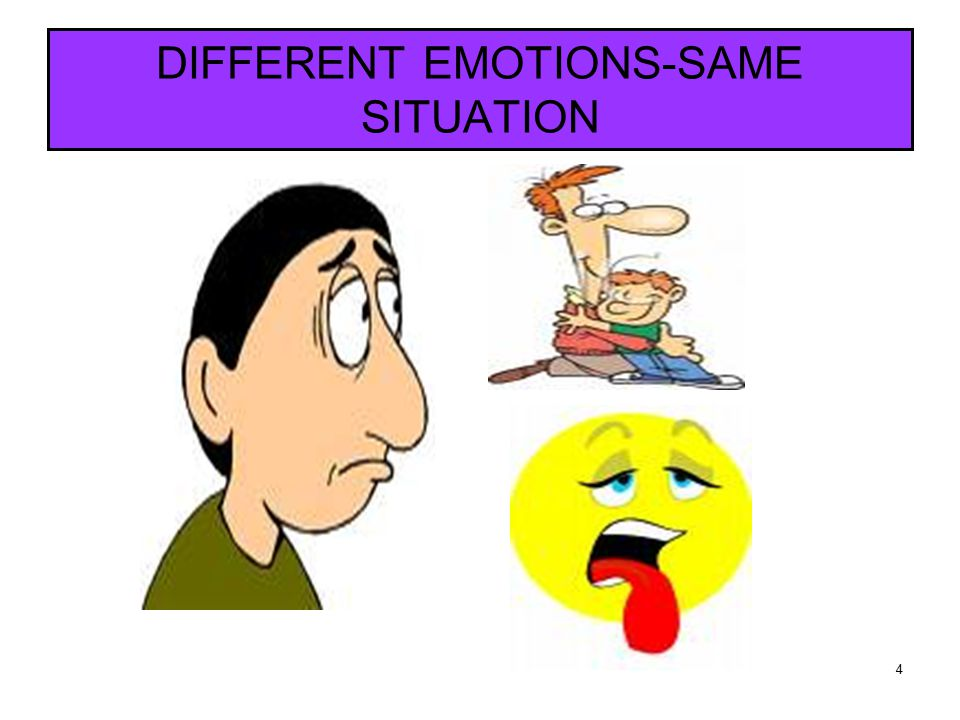 4 DIFFERENT EMOTIONS-SAME SITUATION