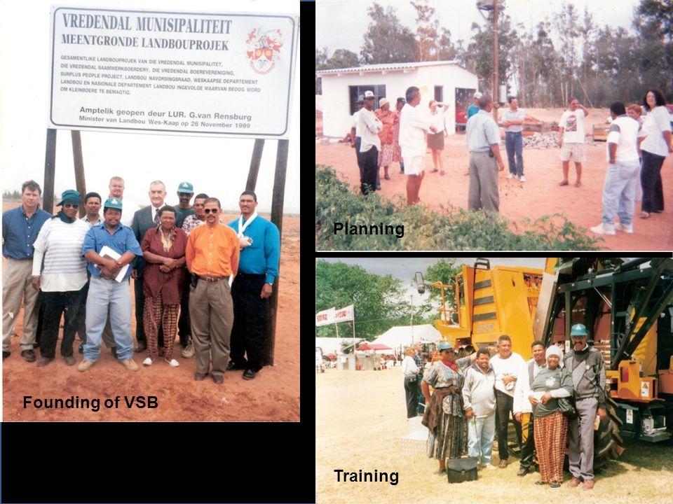 Founding of VSB Training Planning