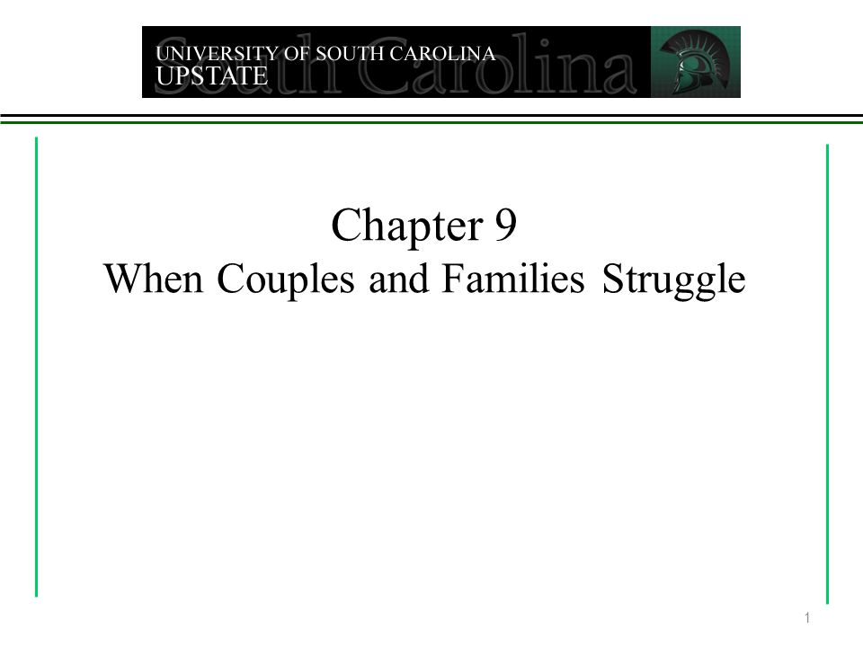 Chapter 9 When Couples and Families Struggle 1