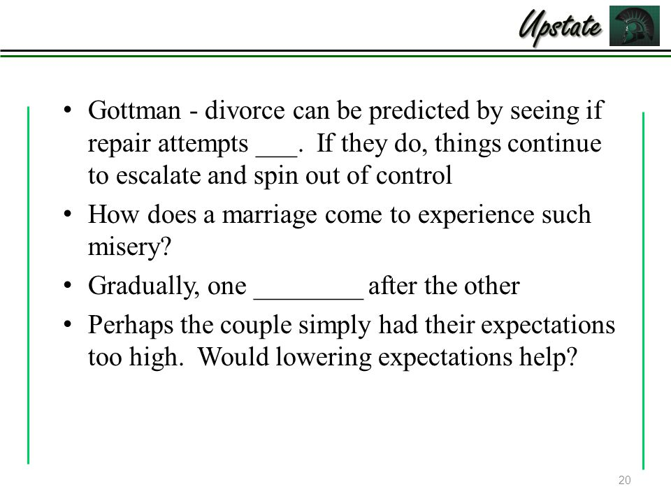 Gottman - divorce can be predicted by seeing if repair attempts ___.