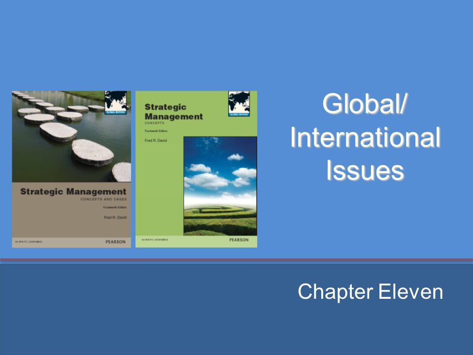 Global/ International Issues Chapter Eleven