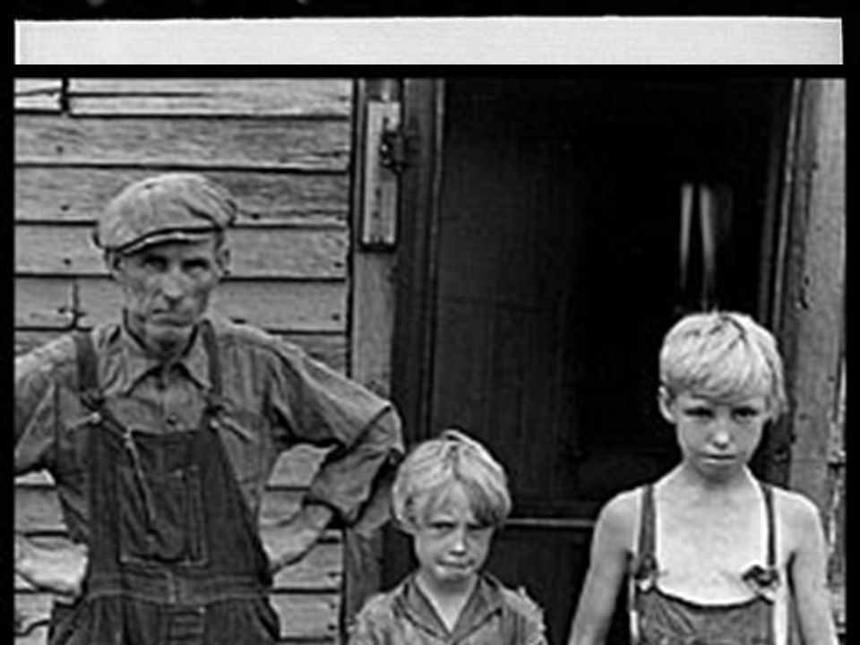 White trash Poor, uneducated white people who lived on relief – lowest social class, even below the racial barrier – prejudiced against black people even though they were considered to be beneath them –felt the need to put down blacks in order to elevate themselves