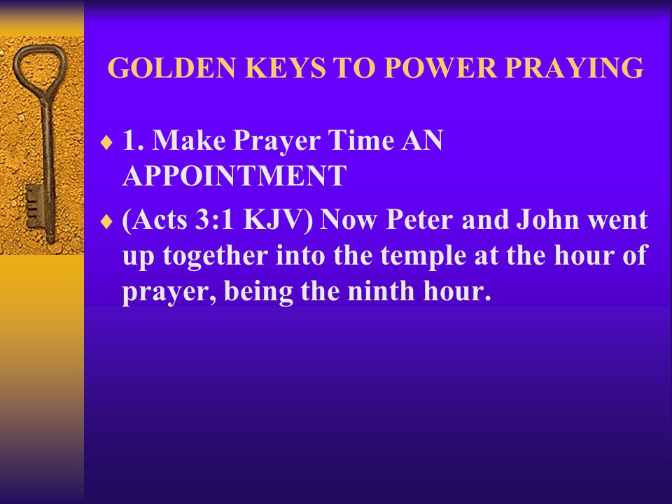 GOLDEN KEYS TO POWER PRAYING  22.
