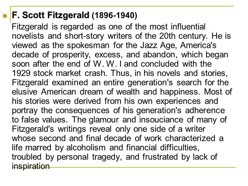 F. Scott Fitzgerald F.