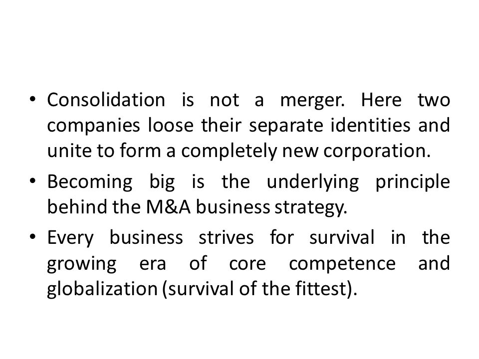 Some of the reasons behind failed mergers are: -Poor strategic fit, cultural and social differences (out of people problem), inadequate and incomplete due diligence (which is the watch dog for M&A process), poorly managed integration (which requires high level quality management for planning and design).