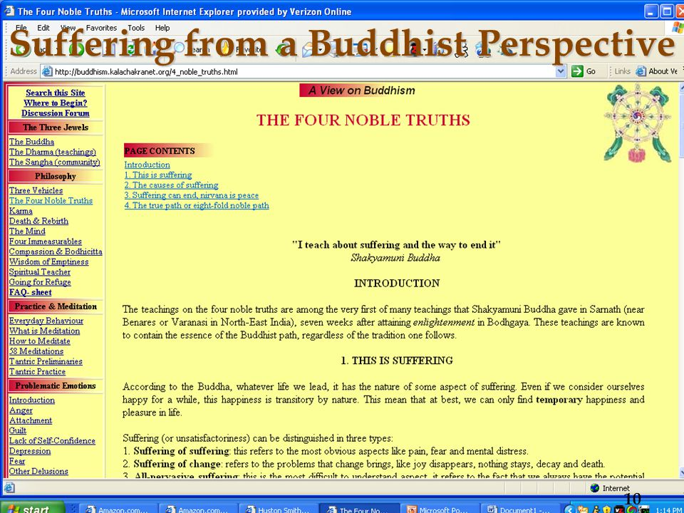 Suffering from a Buddhist Perspective 10