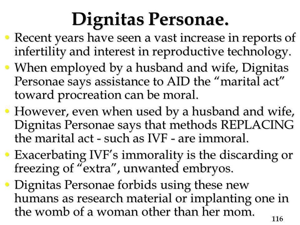 Dignitas Personae.