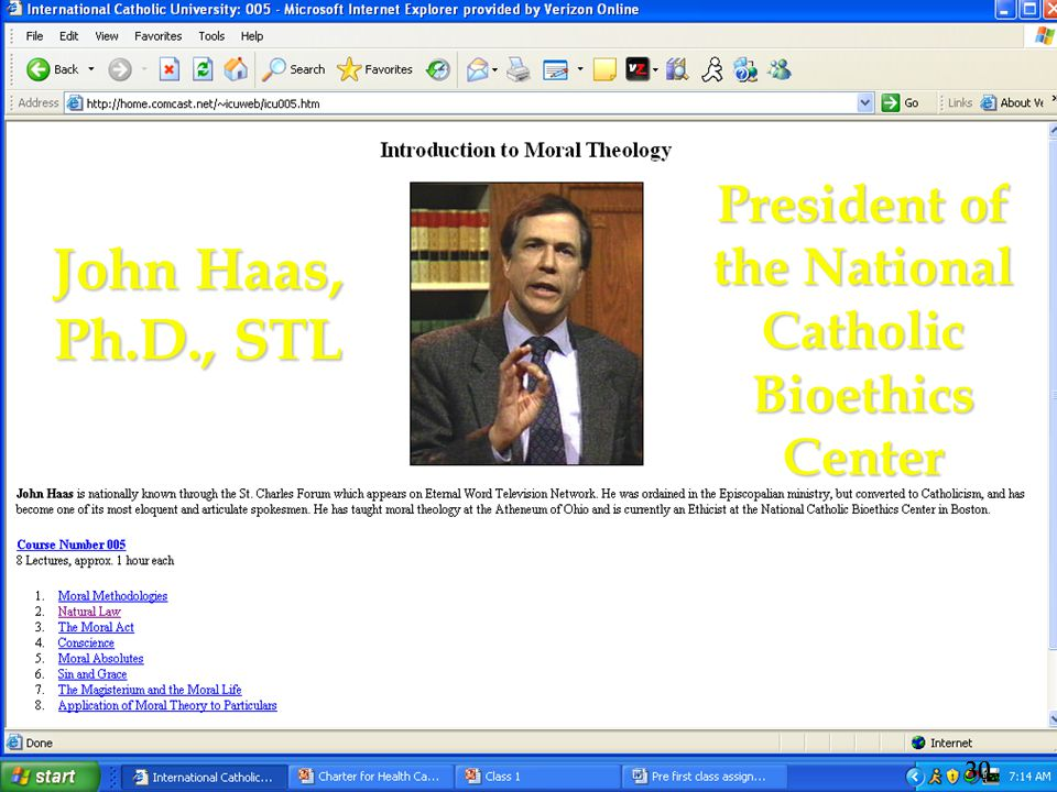 John Haas, Ph.D., STL President of the National Catholic Bioethics Center 30