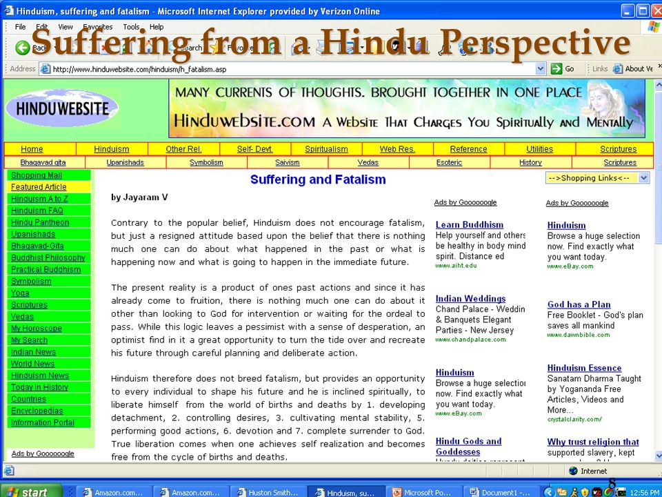 Suffering from a Hindu Perspective 8