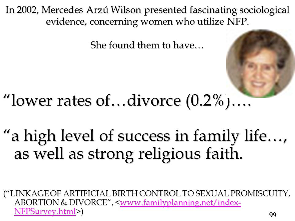 lower rates of…divorce (0.2%)….