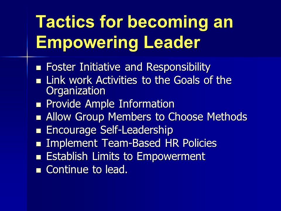 Effective Empowering Practices