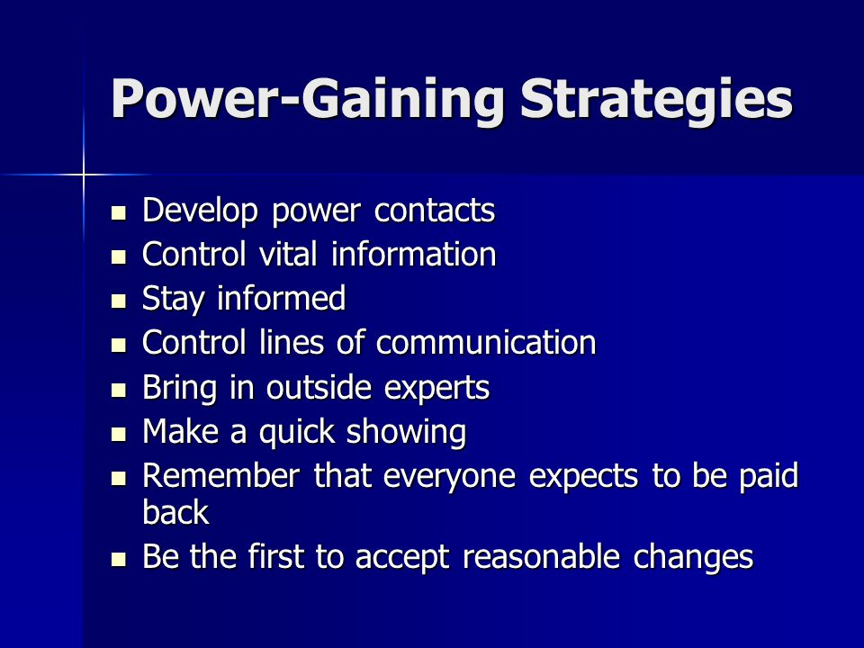Ethical Political Tactics and Strategies Gaining Power Gaining Power Building Relationships for Political Power Building Relationships for Political P