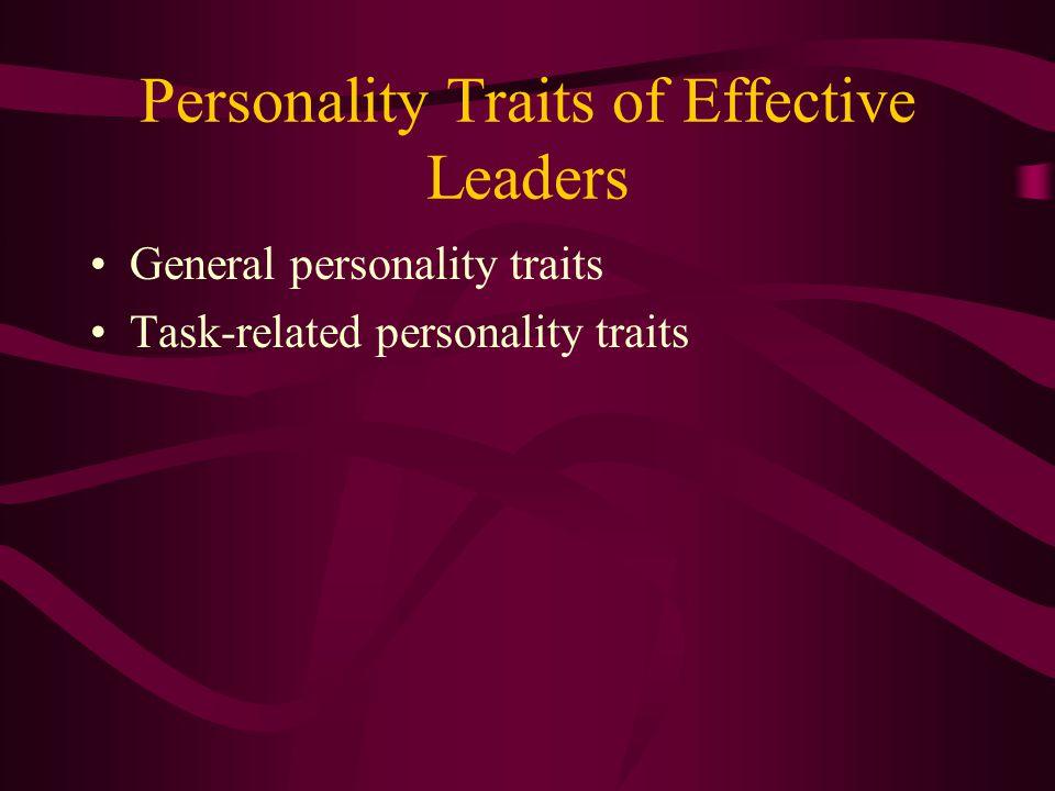 Leadership Characteristics Categories Personality traits Motives Cognitive factors