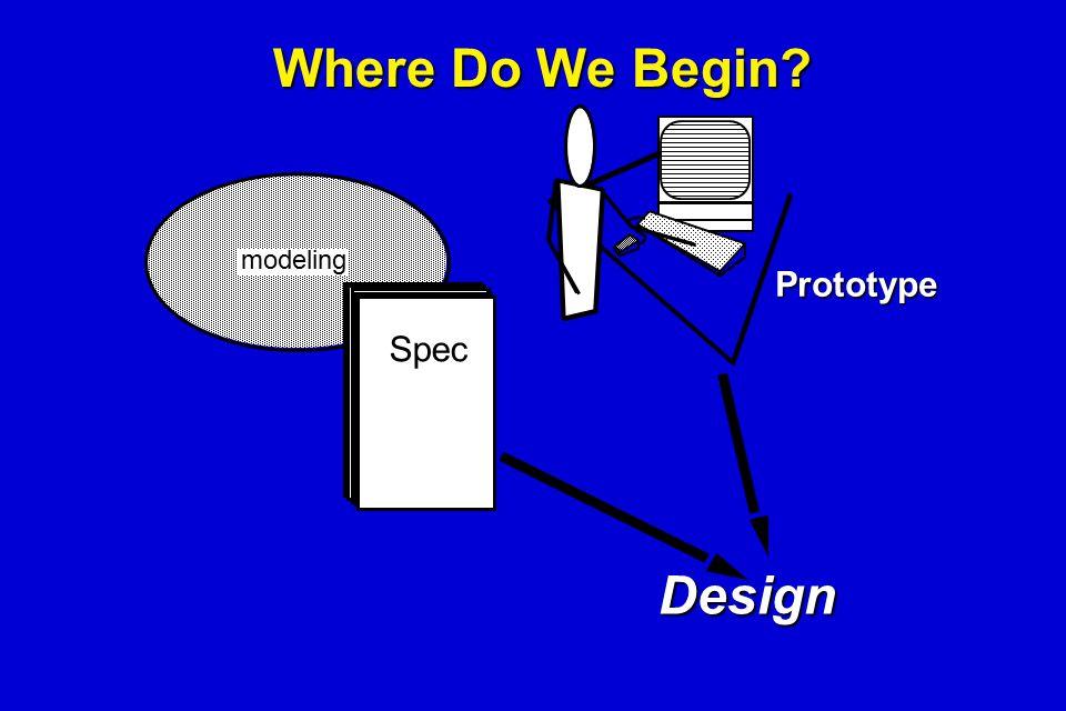 Where Do We Begin? Spec Prototype Design modeling