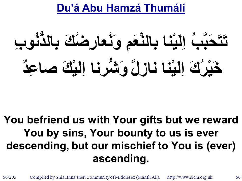 Du á Abu Hamzá Thumálí 60/203 60 Compiled by Shia Ithna'sheri Community of Middlesex (Mahfil Ali).