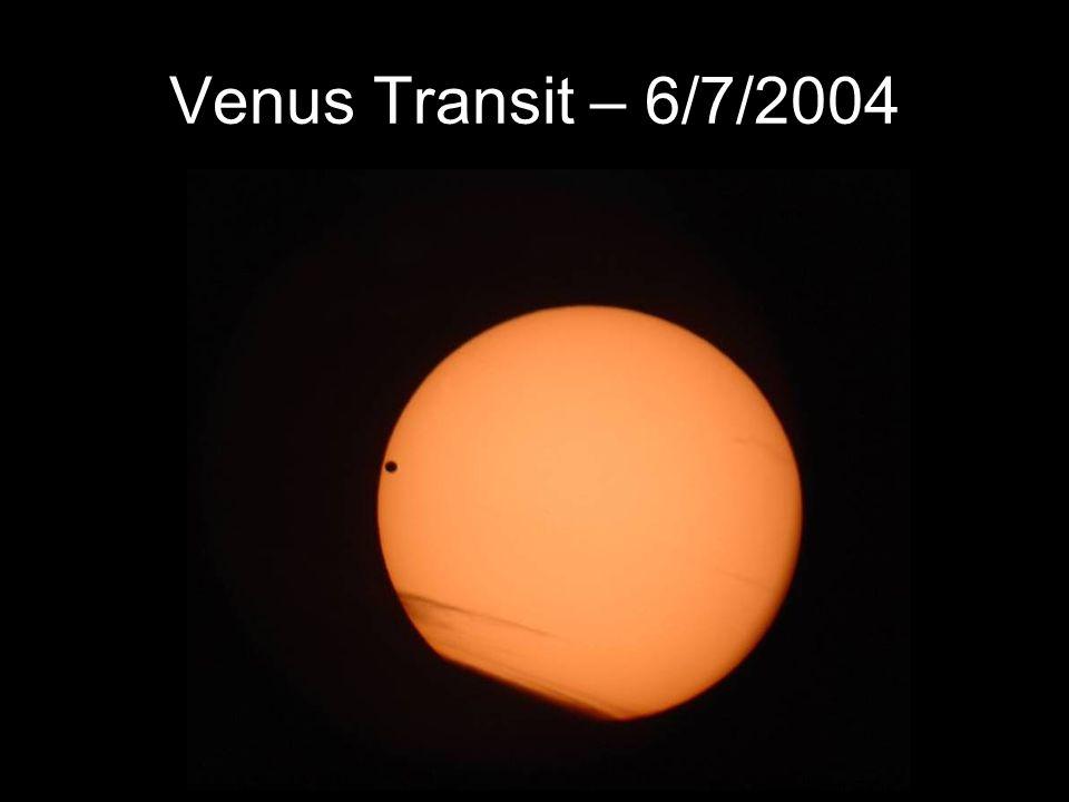 Venus Transit – 6/7/2004
