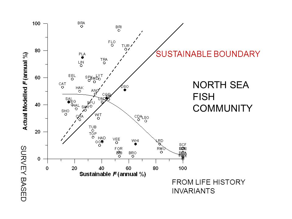 SUSTAINABLE BOUNDARY FROM LIFE HISTORY INVARIANTS SURVEY BASED NORTH SEA FISH COMMUNITY