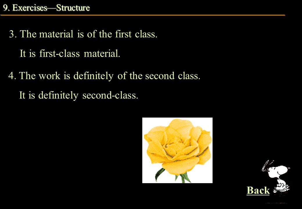 9. Exercises—Structure 9. Exercises—Structure 4.