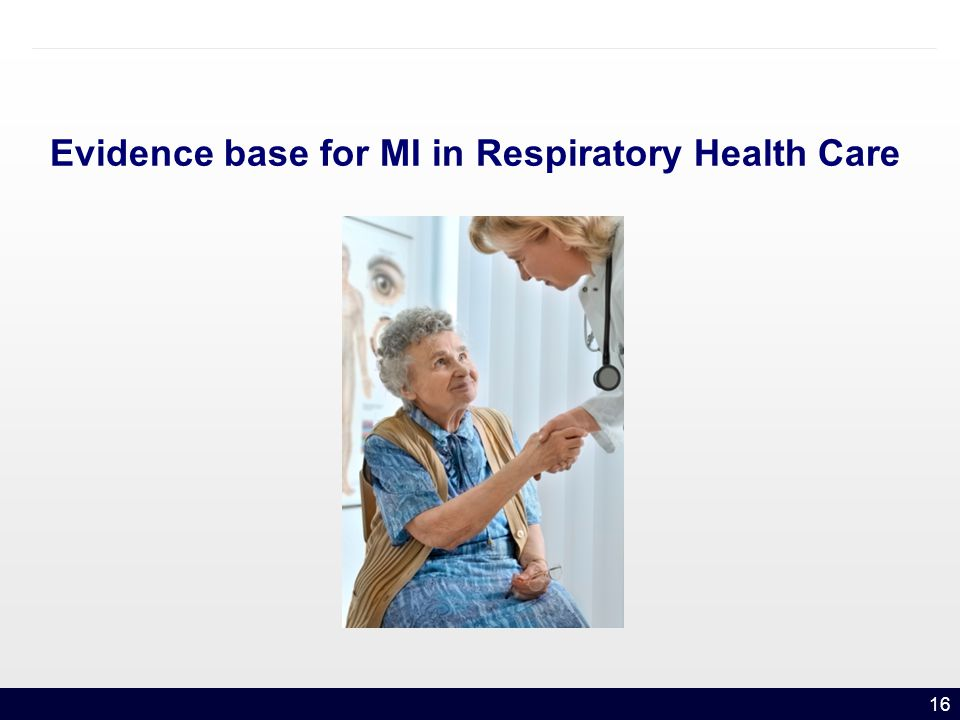 16 Evidence base for MI in Respiratory Health Care