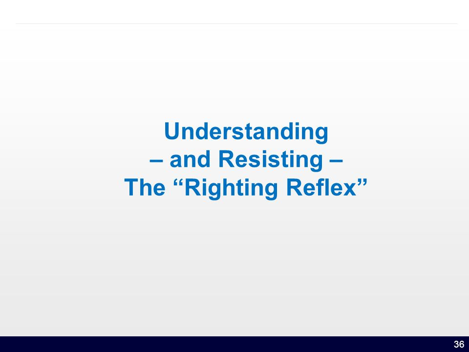 36 Understanding – and Resisting – The Righting Reflex