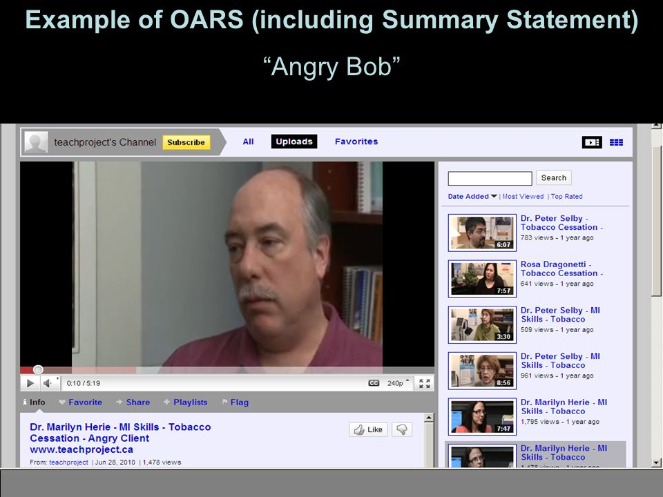 89 Example of OARS (including Summary Statement) Angry Bob http://www.youtube.com/user/teachproject#p/u/5/79YTuZUFRIc