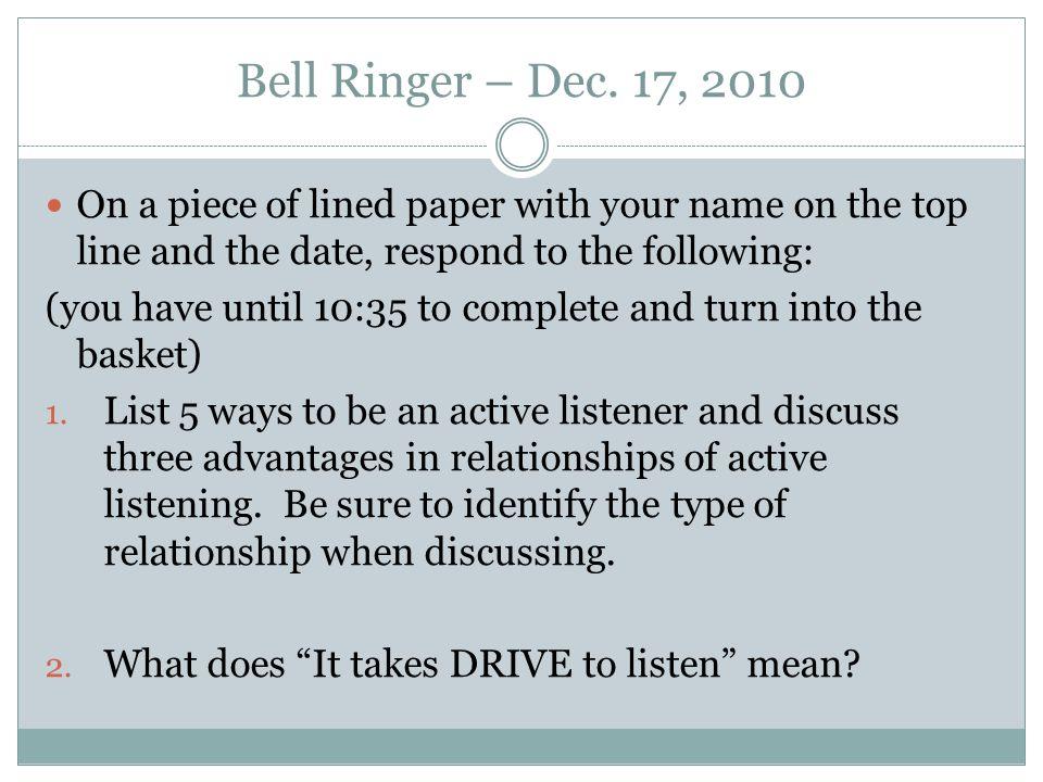 Bell Ringer – Dec.