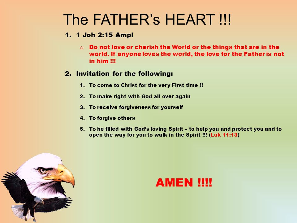 The FATHER's HEART !!.