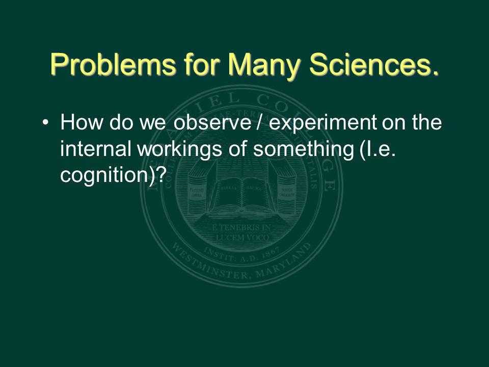 Problems for Many Sciences.