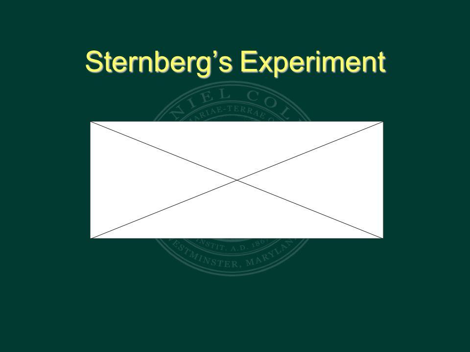 Sternberg's Experiment