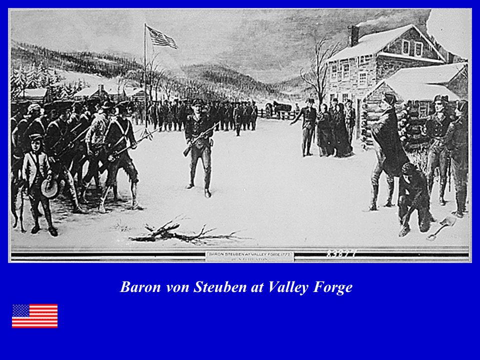 Baron von Steuben at Valley Forge