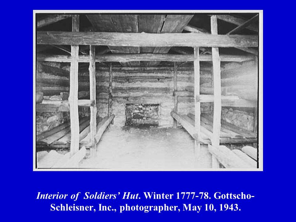 Interior of Soldiers' Hut. Winter 1777-78. Gottscho- Schleisner, Inc., photographer, May 10, 1943.