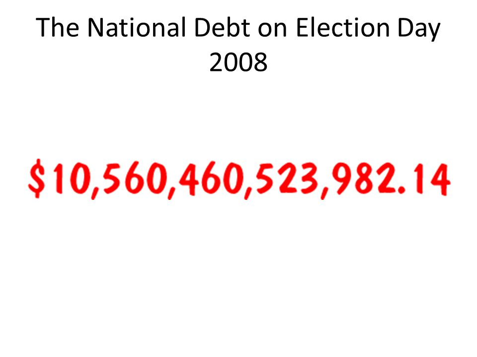 The National Debt on Election Day 2008