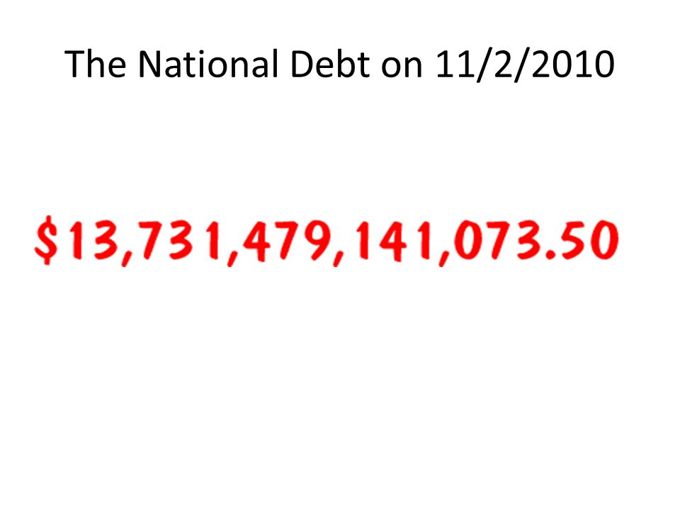 The National Debt on 11/2/2010