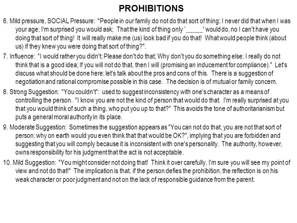 PROHIBITIONS 6.