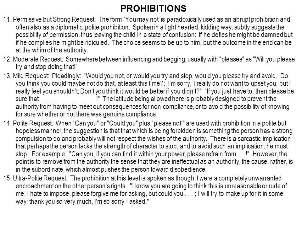 PROHIBITIONS 11.