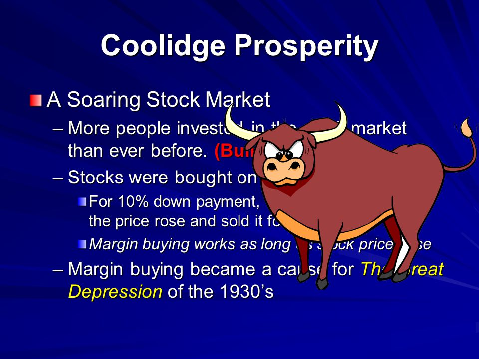 A Soaring Stock Market –M–M–M–More people invested in the stock market than ever before.