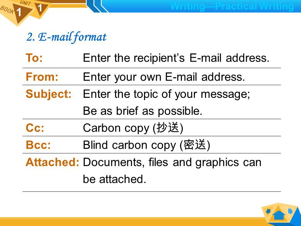 1 1 III.Practical Writing: E-mail Writing 1.