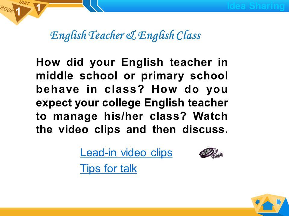 1 1  English Teacher English Teacher & English Class