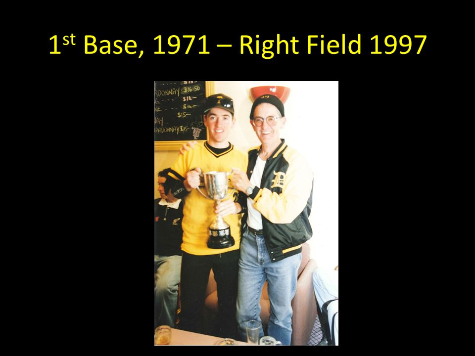 1 st Base, 1971 – Right Field 1997