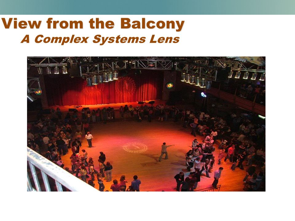 View from the Balcony A Complex Systems Lens
