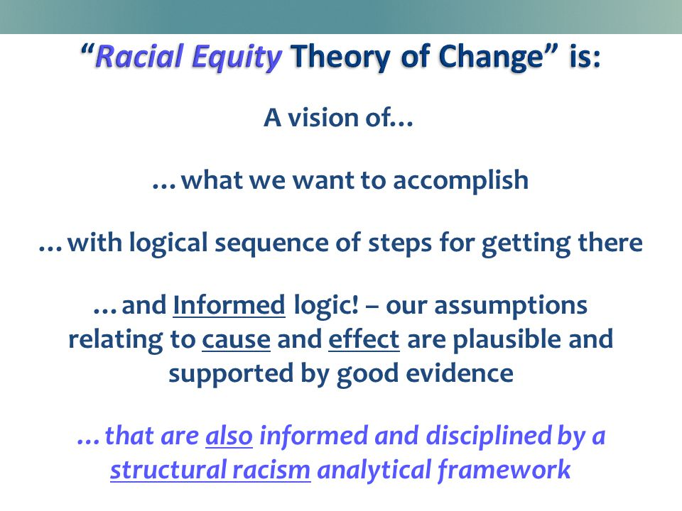 A vision of… …what we want to accomplish …with logical sequence of steps for getting there …and Informed logic.