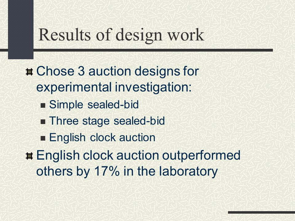 Auction planning gets in gear The details of auction design are critical to auction success.