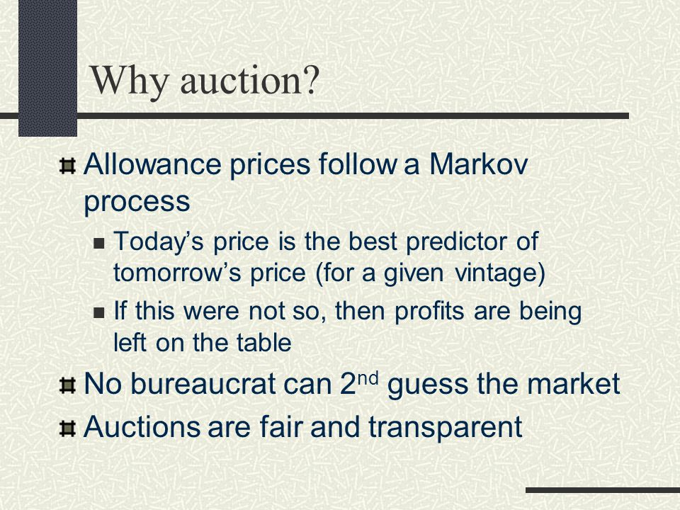 Why auction.