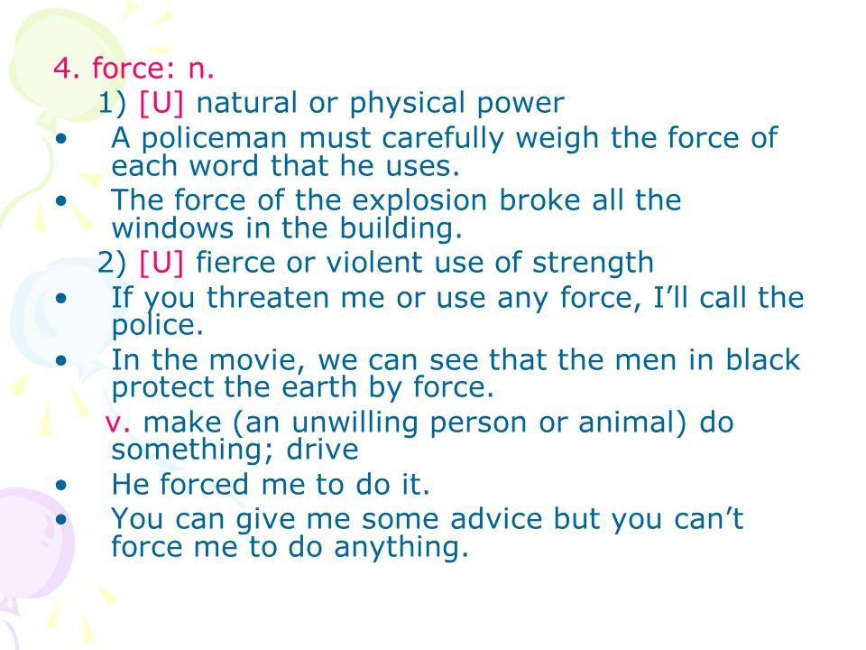 4.force: n.