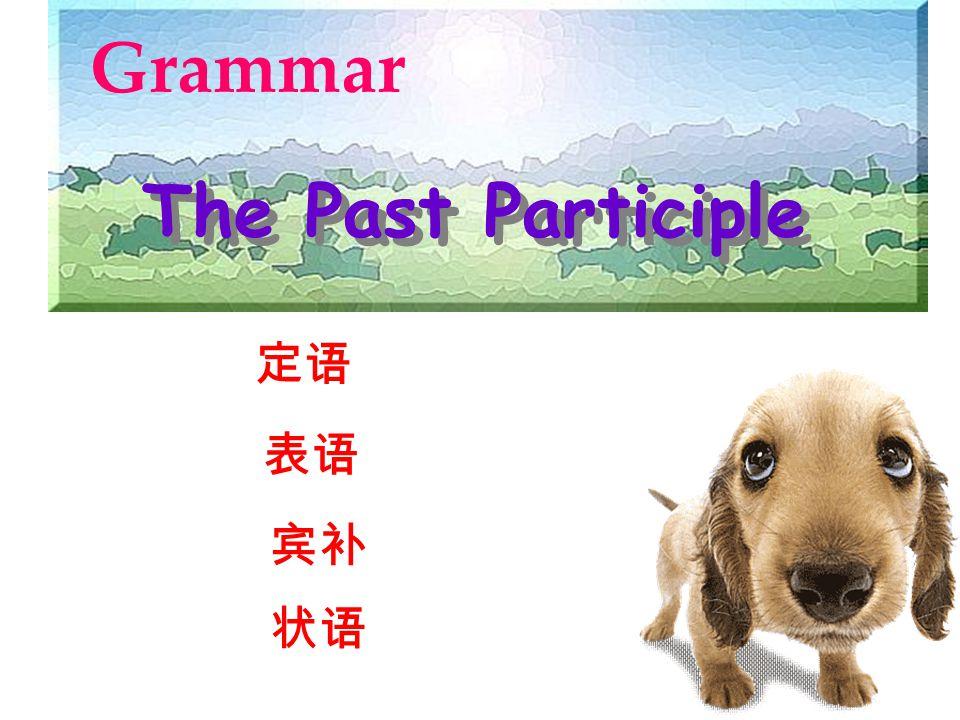 Grammar The Past Participle 定语 表语 宾补 状语