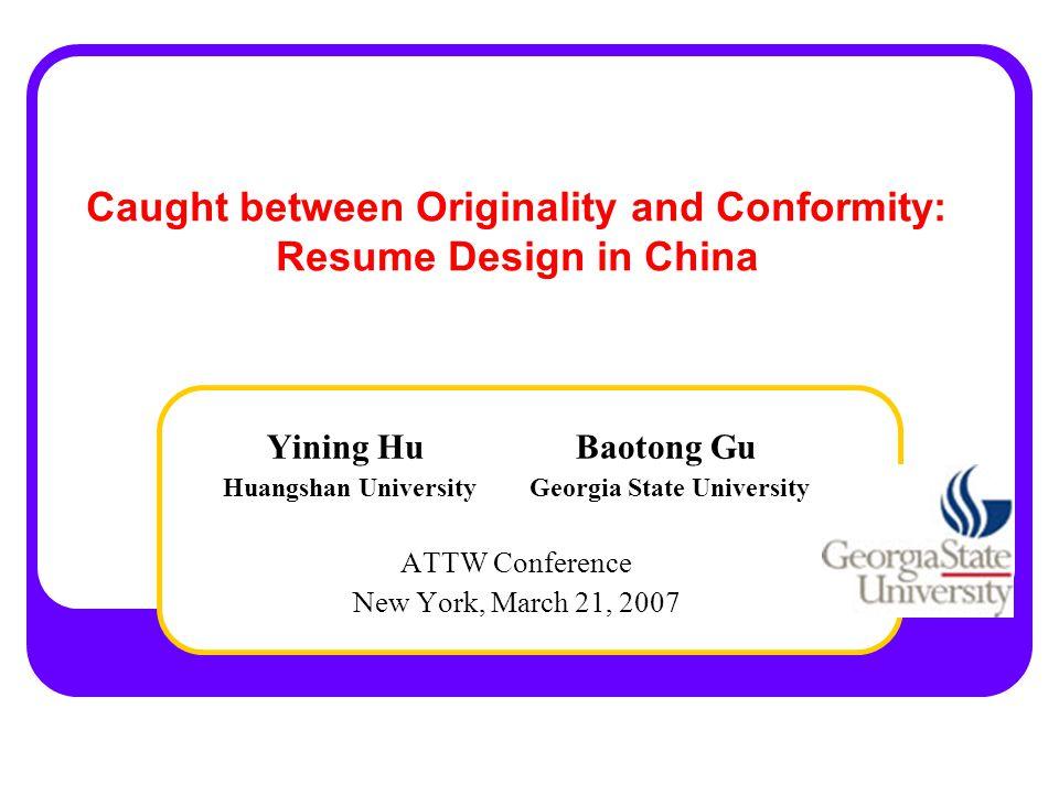 Originality vs.Conformity Originality and Conformity I am this bowl of tea (big- bowl tea).