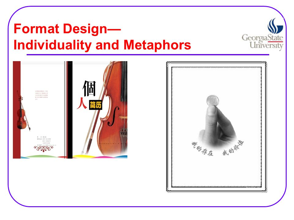 Format Design— Individuality and Metaphors