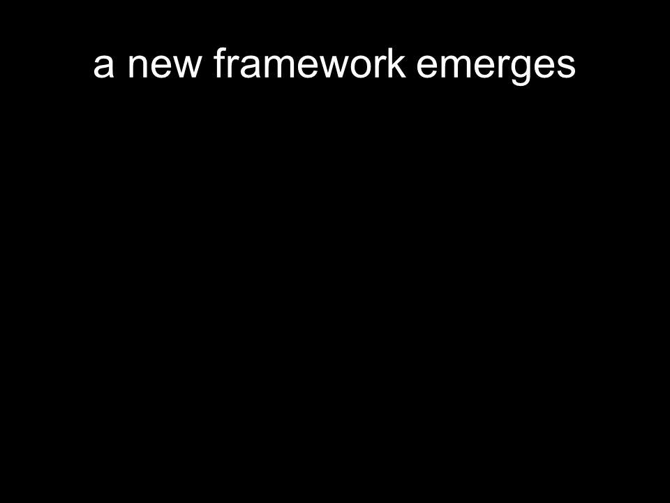 a new framework emerges