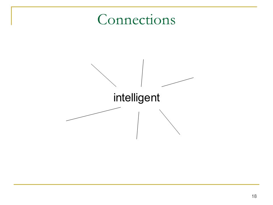 18 Connections intelligent